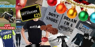 Different Christmas gifts for a biker