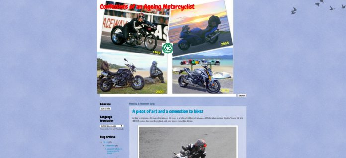 Confessions of an ageing motorcyclist Motorcycle Blog