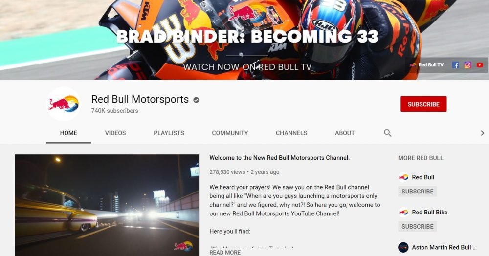 Red Bull- motorcycle vlogger