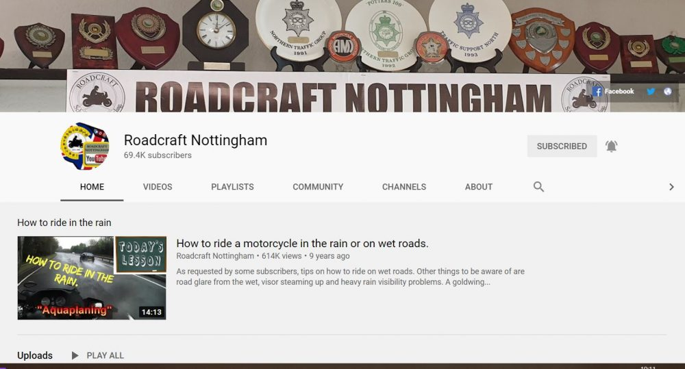 Roadcraft Nottingham - motorcycle vlogger
