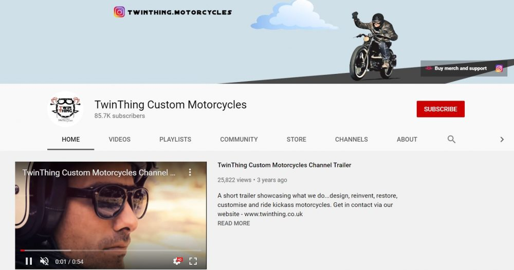 TwinThing - motorcycle vlogger